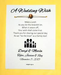 Family Day Invitation Card Blended Family A Wedding Wish Unity Bead Wish Bracelet