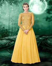 buy indian designer gowns online uk yellow indian designer gown