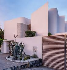 Moroccan Houses by Wavy Walls Provide Privacy For Moroccan Home By Architect Mohamed