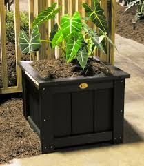 Black Planter Boxes by Images Of Outdoor Square Planters Garden And Kitchen