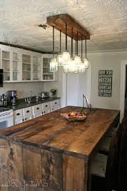 amazing chic rustic kitchen island ideas and lights for images