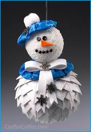 he s a keeper diy a prairie point snowman ornament crafts n coffee