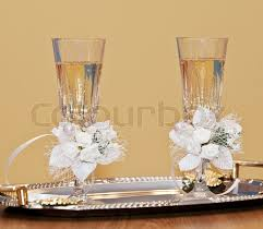 wedding glasses wedding glasses glasses with a chagne decorated decorative