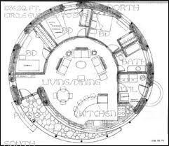 Straw Bale Floor Plans 1 036 Sq Ft Spiral Round House 3 Br Central Living Area