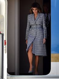 melania trump changes during flight to brussels daily