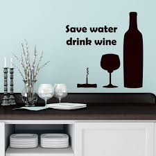 popular wine wall decals buy cheap wine wall decals lots from quote wine wall decals save water glass bottle stickers mural cafe kitchen china