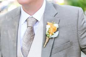 Gold Boutonniere Gold Boutonniere