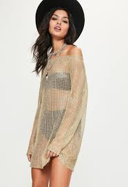 gold off shoulder metallic jumper dress missguided ireland
