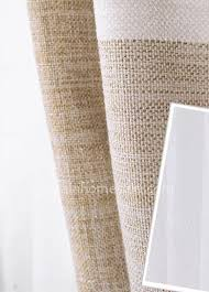 Striped Linen Curtains Light Brown And White Curtains Horizontal Striped Curtains