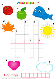 Free Printable Halloween Crossword Puzzles Crossword Puzzle For Children What The Color Free Printable