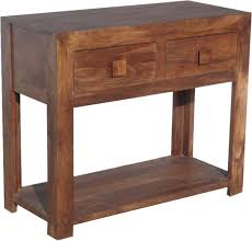 mango wood console table buy jaipur dakota walnut mango wood console table 2 drawer online