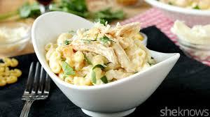 slow cooker sunday mac u0026 cheese meets chicken alfredo for dinner