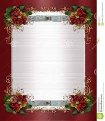 Christmas Invitation Card Christmas Or Winter Wedding Border Royalty Free Stock Photography