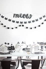 purrrrrfect black cat halloween party animal party ideas