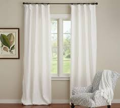 Cotton Tie Top Curtains by Pottery Barn Curtain Rod Installation Nrtradiant Com
