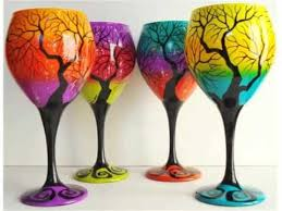 wine glass painting designs wine glass painting painted wine