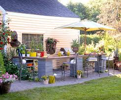 Raised Garden Bed On Concrete Patio Dreaming Of Concrete Blocks Raised Beds Planters Tables And