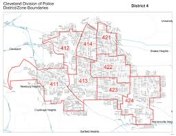 Cleveland Zip Code Map by Cleveland Police Districts Maplets