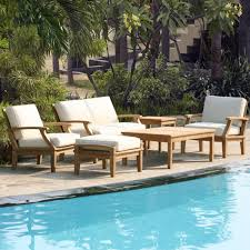 st barts 6 piece deep seating teak outdoor set outdoor