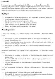 Leasing Consultant Resume Examples by Apartment Leasing Agent Resume Sample 2020 Sample Resume Leasing