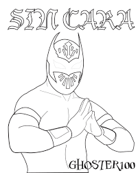 sin ciara color pages in wwe sin cara coloring pages eson me