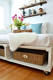 25 Easy Diy Bed Frame Projects To Upgrade Your Bedroom Homelovr by Diy Bed Frames With Storage Home Design Ideas
