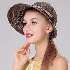 uv package wide brim straw sun hat womens beach hats with bow for