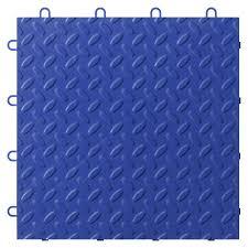 shop garage floor tile at lowes com gladiator 24 piece 12 in x 12 in blue diamond plate garage floor
