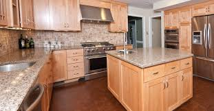 Cork Flooring In Kitchen by Under Cabinet Range Hood Natural Maple Shaker Style Cabinets With