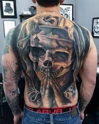 skull u0026 rose mens full back piece tattoo ideas tats