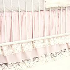 Old Fashioned Lace Curtains by Cora U0027s Vintage Pink Linen U0026 Lace Crib Bedding Caden Lane