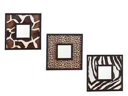 Animal Print Wall Decor Animal Print 3pc Decorative Mirror Set