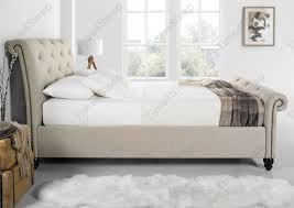 King Size Sleigh Bed Frame Bedroom Upholstered Upholstered Bed Frame With King Size Sleigh
