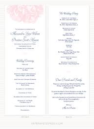 wedding program layouts peony blossom wedding program sle paperwhites wedding invitations