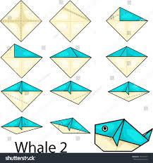 Origami Illustrator - illustrator origami whale 2 stock vector 155164277