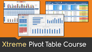 Excel Spreadsheet Course Excel Pivot Table Online Course