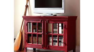 Multimedia Storage Cabinet With Doors Small Media Storage Modern Media Console Small Pecan White Small