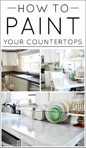 How To Paint Kitchen Countertops by Best 20 Countertop Decor Ideas On Pinterest Kitchen Counter