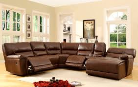 Leather Sectional Sleeper Sofa With Chaise Furniture Chocolate Brown Leather Reclining Sleeper Sofa With