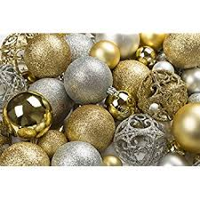 100 gold and silver ornament balls