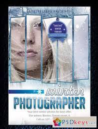 winter photographer flyer template psd template facebook cover