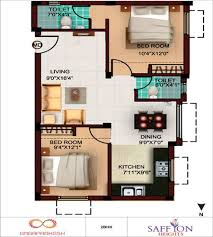 sensational idea 600 square feet 2 bhk free house floor plan