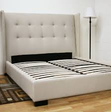 Upholstered Headboards And Bed Frames Wood Bed Frame Upholstered Headboard Home Design Ideas