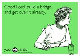 Over It Meme - good lord build a bridge and get over it already encouragement