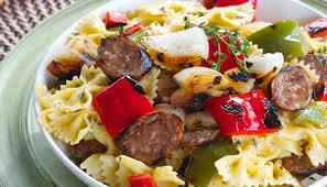 Pasta Sausage Italian Sausage And Pepper Pasta Salad Realsweet