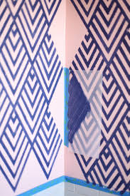 Design Your Own Home Wallpaper Get The Look Of Wallpaper By Making Your Own Geometric Stencil