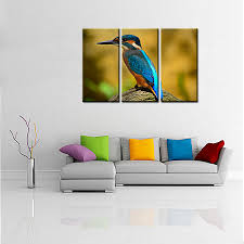 posters for home decor aliexpress com buy 3 panels cool pretty leopard duck bird