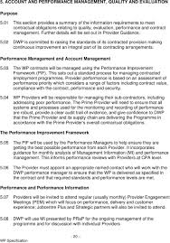 the work programme invitation to tender specification and