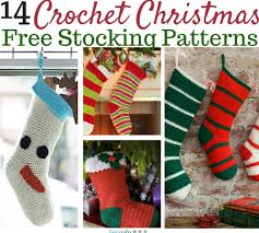crochet christmas stockings 14 free patterns favecrafts
