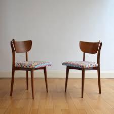 siege vintage chaise vintage en bois avec siège en tissu multicolore 1950